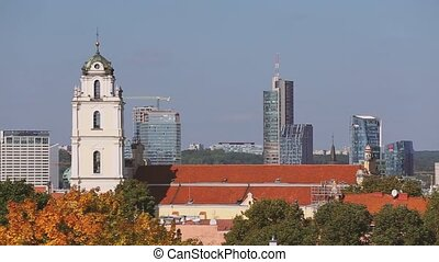 Vilnius, Lithuania. View Of Catholic Church Of St. Johns...