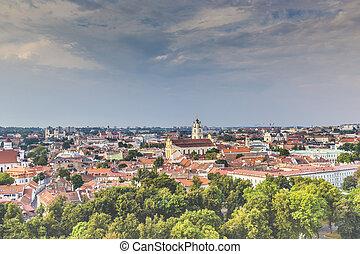 Vilnius old town cityscape, Lithuania