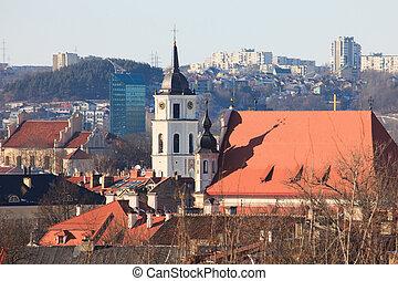 Vilnius old town cityscape