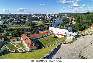 Vilnius panorama landscape with Neris river