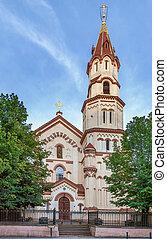 vilnius, str.. nicholas, linuania, kirche