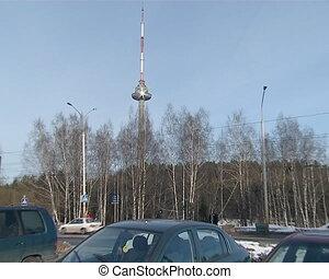 Vilnius tv tower zoom in
