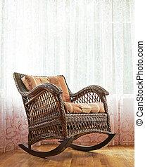 vime, cadeira balanço, composição