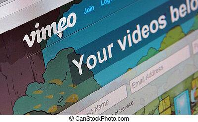 vimeo, 主页