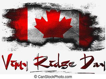 vimy, 峰, 日, 旗, カナダ