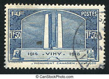 vimy, 記念, 峰, 戦争, カナダ