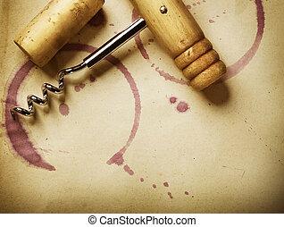 vin, arrière-plan., vendange, style