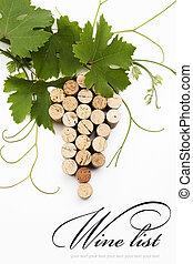 vin, begrepp, lista, design