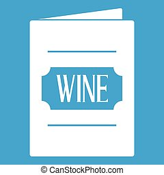 vin blanc, liste, icône