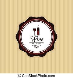 vin, délicieux, étiquette