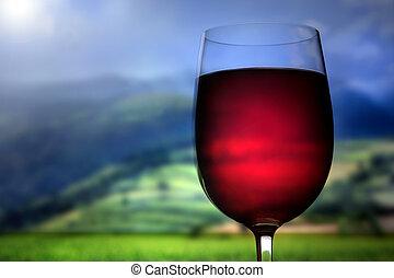 vin, dehors