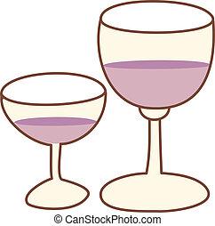 vin, deux, verre
