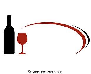 vin, fond, décoratif