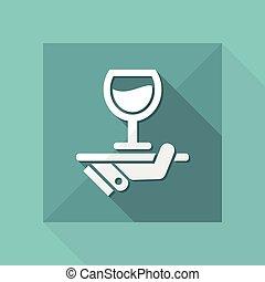 vin, liste, icône