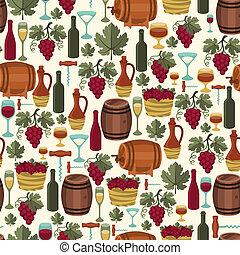 vin, mönster, vintillverkare, seamless, restaurants.