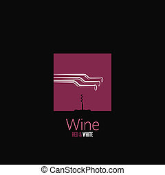 vin, meny, bakgrund, design