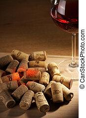 vin, reflex, korkar