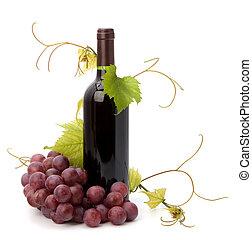 vin rouge, bouteille
