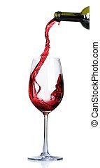 vin rouge, verser