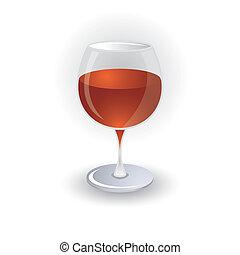 vin verre, icône