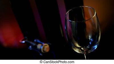 vin, versé, verre, 4k, rouges