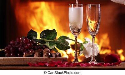 vin versant, étincelant, lunettes