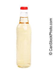 vinagre, branca, garrafas, fundo, isolamento