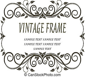 Vinatge frame with curlicues and swirls - Vintage frame with...