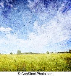 Vinatge summer landscape background