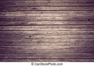 Background of vintage wooden wall with nails