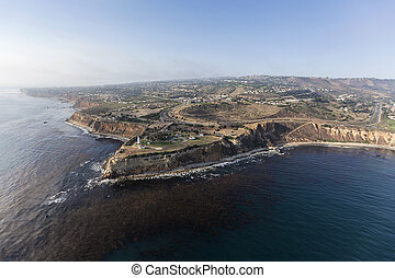 Vincent Point Aerial in Rancho Palos Verdes near Los Angeles California
