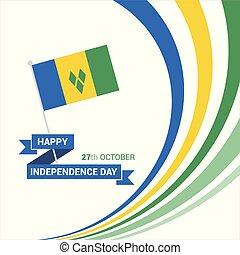 vincent, vector, ontwerp, dag, onafhankelijkheid