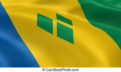 Vincentian flag in the wind