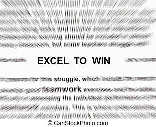vincere, excel, parola, fuoco