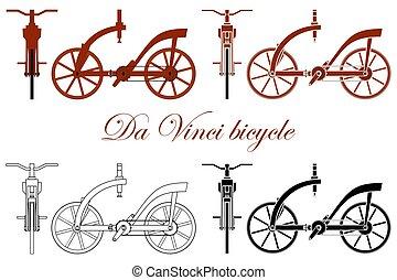 vinci, bike., leonardo, da, bois