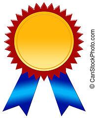 vincitore, distintivo