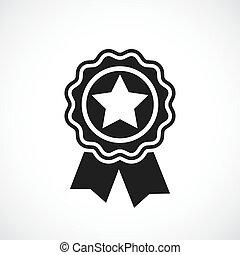 vincitore, distintivo, premio