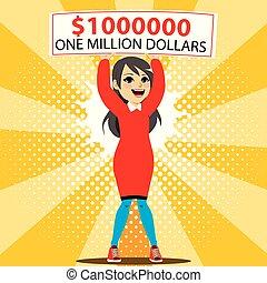vincitore, dollaro, milione, uno