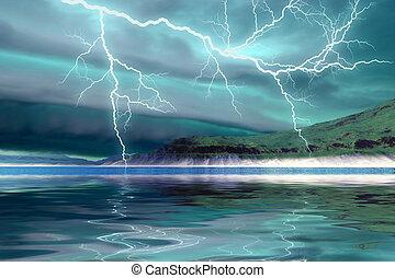 vinda, tempestade