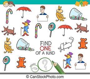 vinden, een, afbeelding, van, een, lief, spel