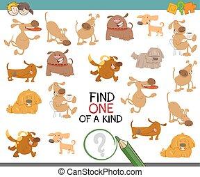 vinden, een van een aard, met, honden