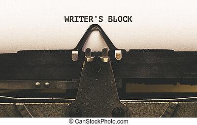 vindima, 1920s, escritor, escritores, papel, texto, bloco, tipo