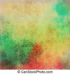 vindima, abstratos, fundo, multicolored