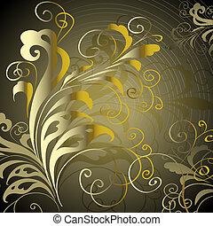 vindima, abstratos, ornamento, geométrico, elegante, vetorial, fundo