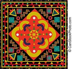 vindima, abstratos, seamless, padrão floral, azulejo