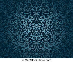 vindima, abstratos, seamless, padrão, vetorial, floral