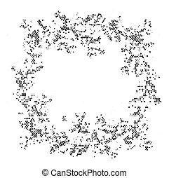 vindima, abstratos, space., halftone, fundo, radial, cópia