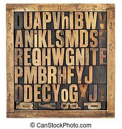 vindima, alfabeto, letras