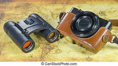 vindima, antigas, câmera bolso