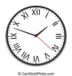 vindima, antigas, relógio